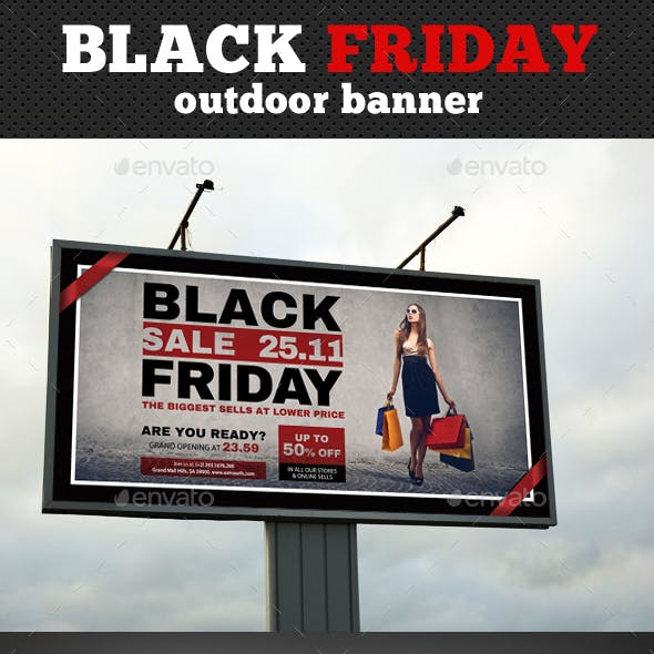 Black Friday Outdoor Banner Template
