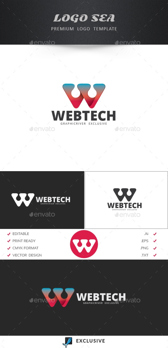 Letter W Logo Template - Letters Logo Templates