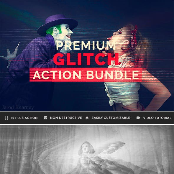 Premium Glitch Effect Photoshop Actions