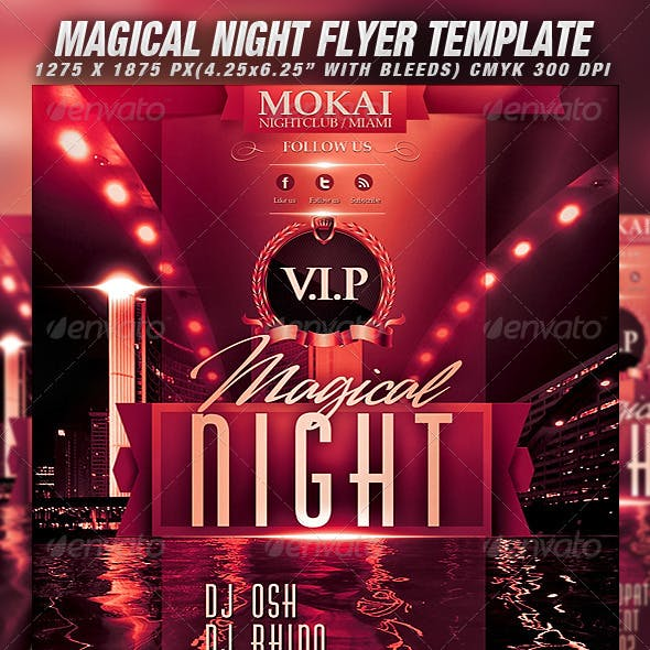Magical Night Flyer Template
