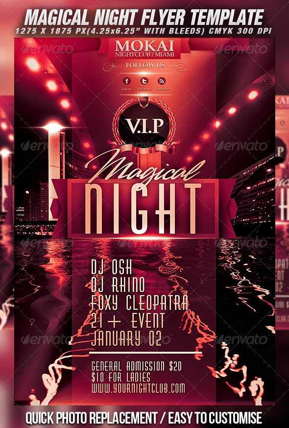 Magical Night Flyer Template - Clubs & Parties Events