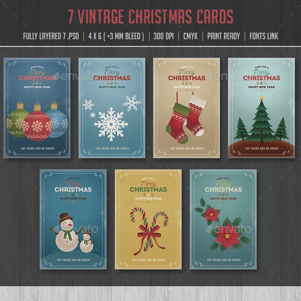 Vintage Font Card Designs Invite Templates From GraphicRiver