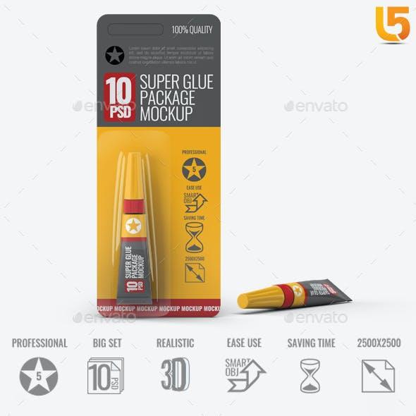 Super Glue Packaging Mock-Up