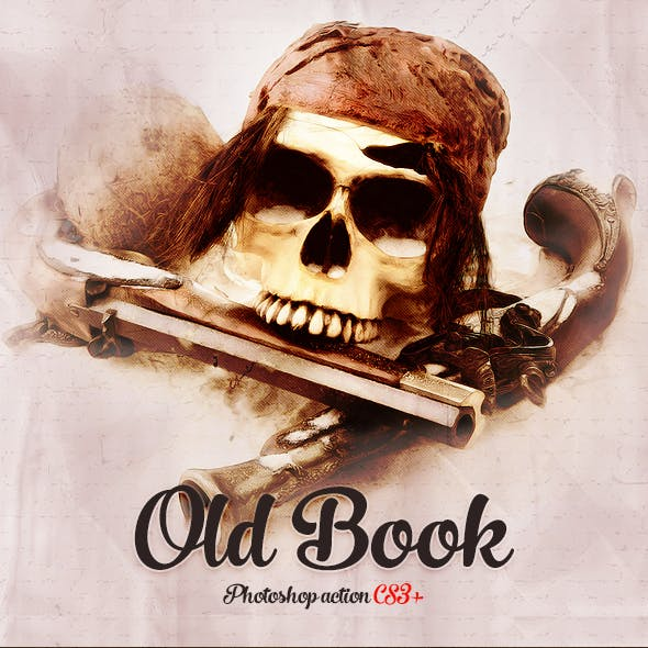 Old Book Sketch Photoshop Action CS3+