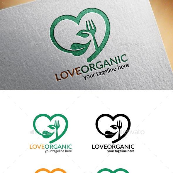 Love Organic Food Logo