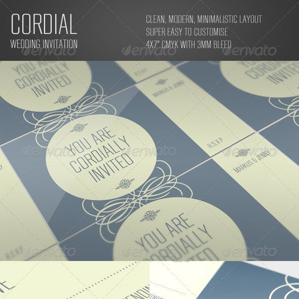 Cordial Wedding Invitation