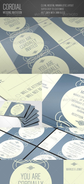 Cordial Wedding Invitation - Weddings Cards & Invites