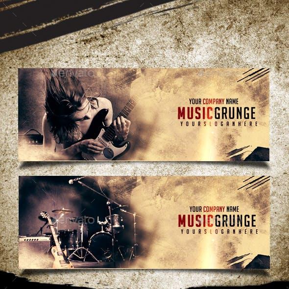 Music Grunge Cover Facebook