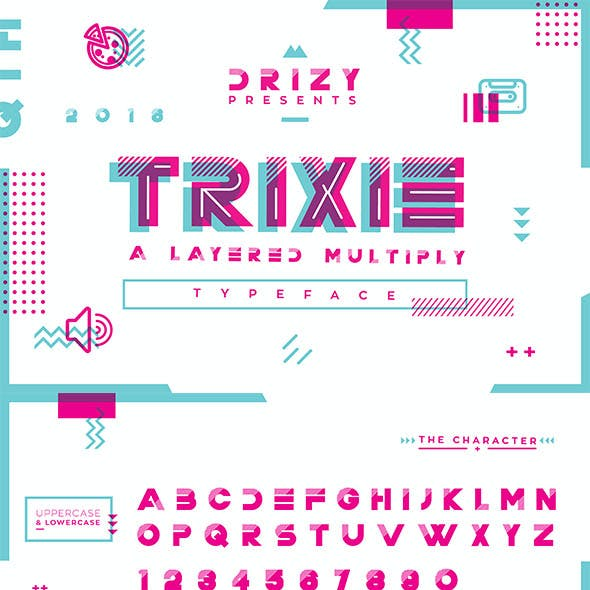 TRIXIE LAYERED MULTIPLY  FONT