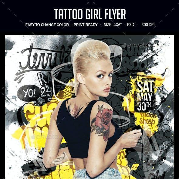 Tattoo Girl Flyer