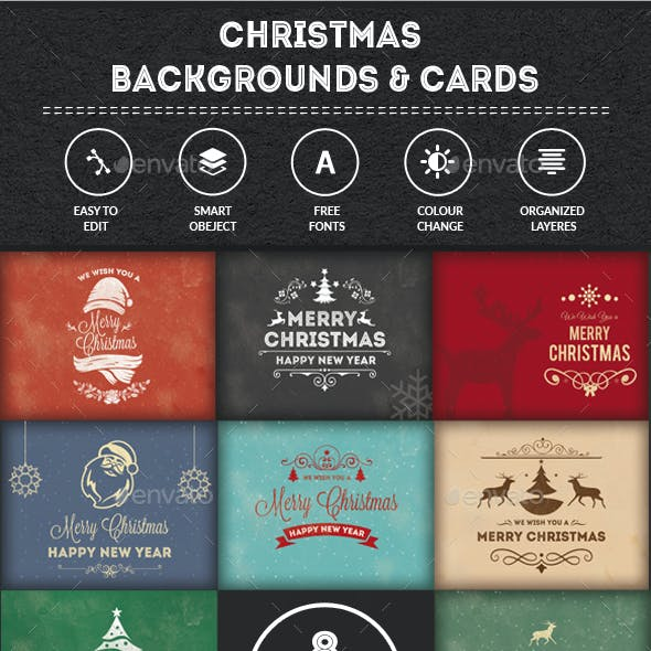 Christmas Backgrounds-Cards