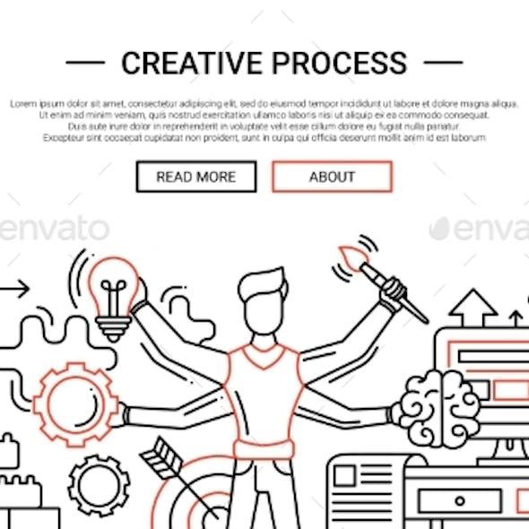 Creative Process - Line Design Website Banner