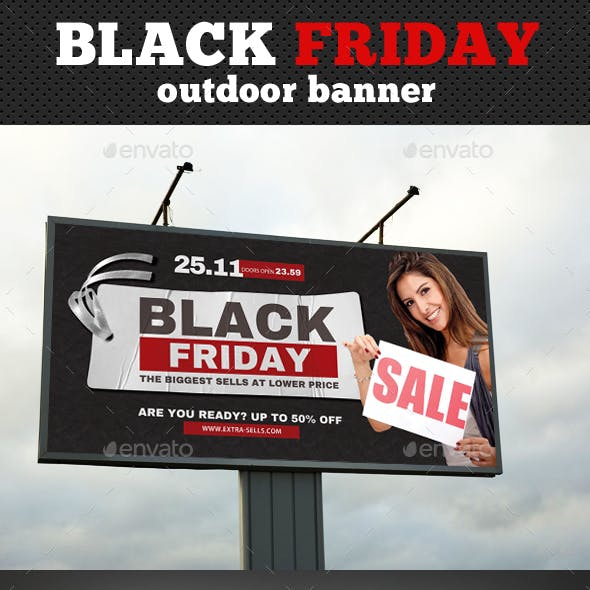 Black Friday Outdoor Banner Template 02