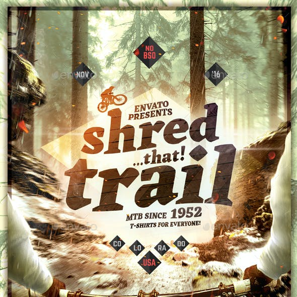 Mountain Bike Trail - Flyer Template