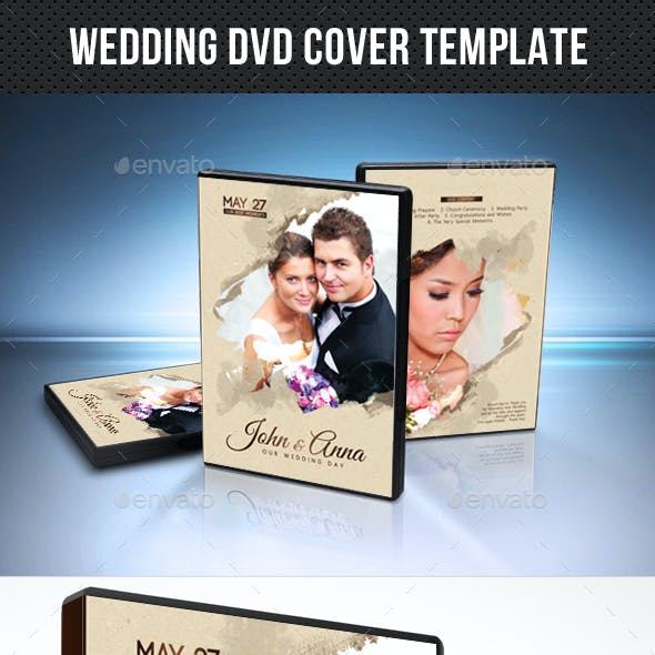 Wedding DVD Cover Template 18