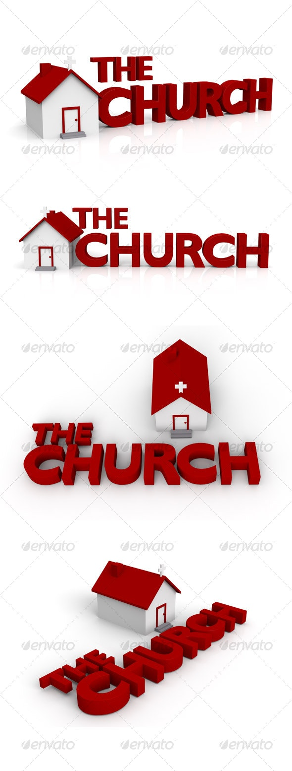 The Church - 3D Render Pack - 3D Backgrounds
