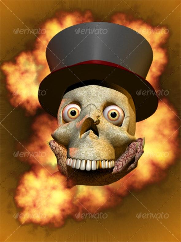 Halloween skull - Characters Illustrations