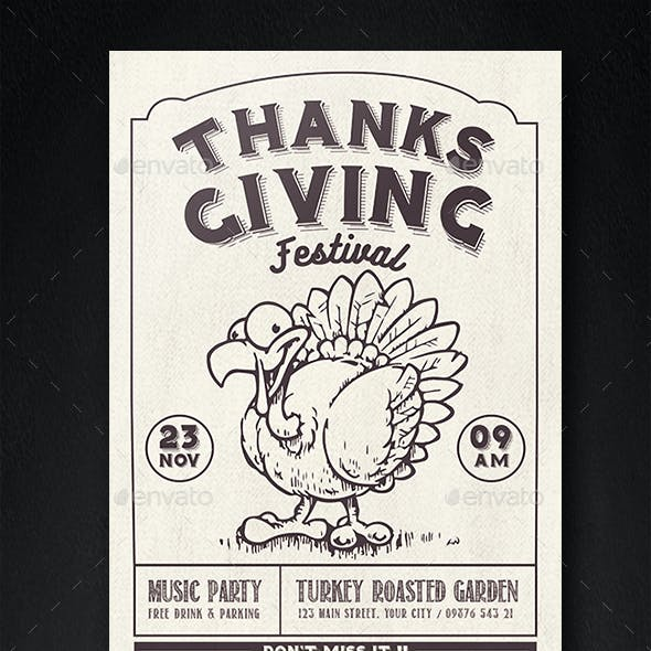 thanksgiving festival flyer