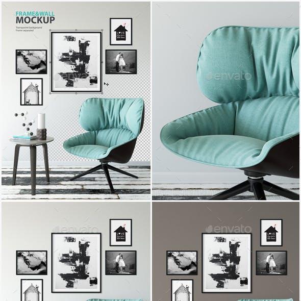 Frame & Wall Mockup 09