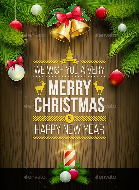 Merry Christmas Poster Design - Christmas Seasons/Holidays