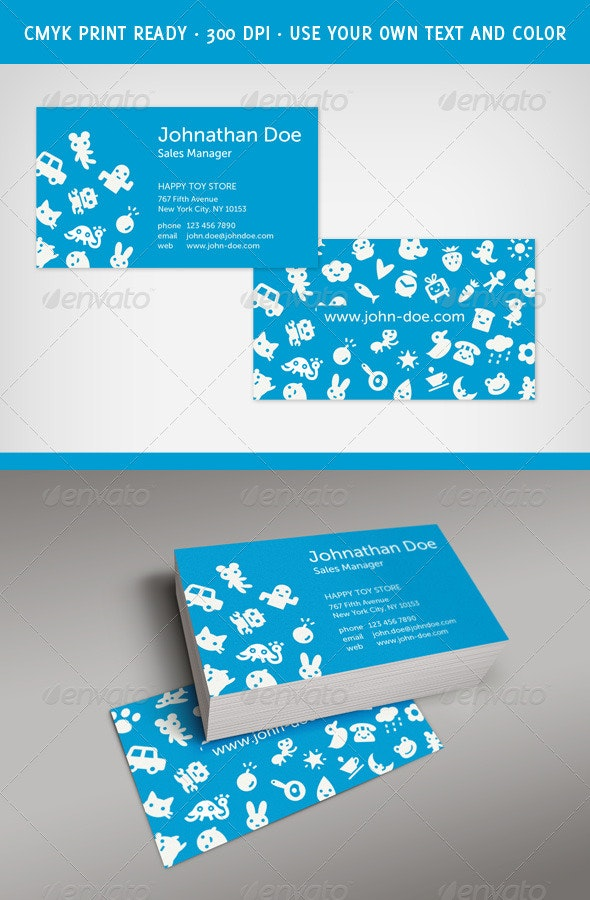 Fresh and Happy Business Card - Creative Business Cards