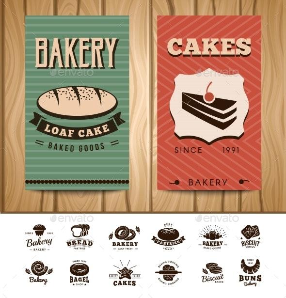 Bakery Visit Cards - Decorative Symbols Decorative