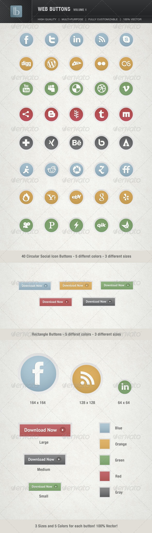 Web Buttons | Volume 1 - Buttons Web Elements