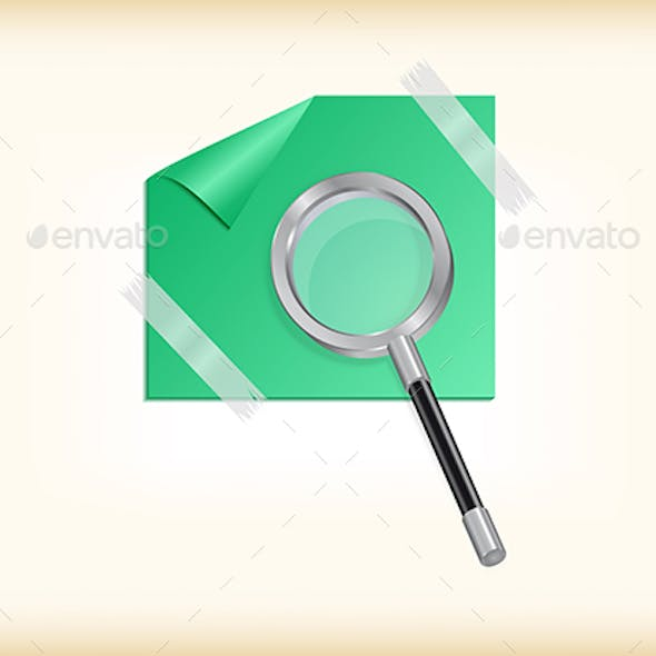 Magnifying Glass with Sticker