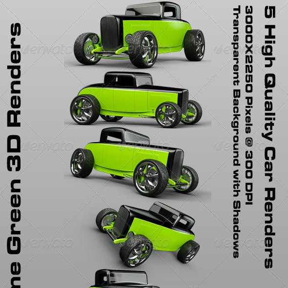 Lime Green 32 Custom Hot Rod