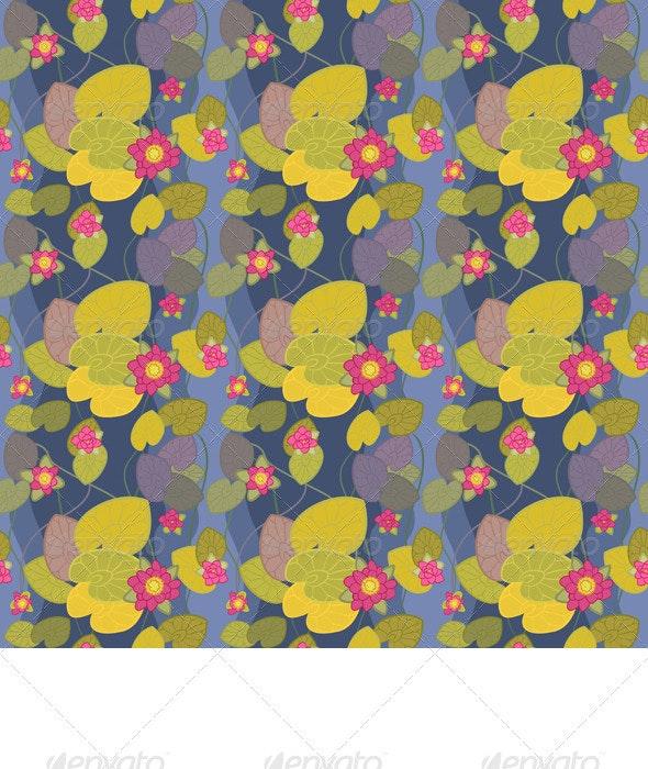 Seamless Pattern of a Beautiful Flower Pink Lotus - Patterns Decorative