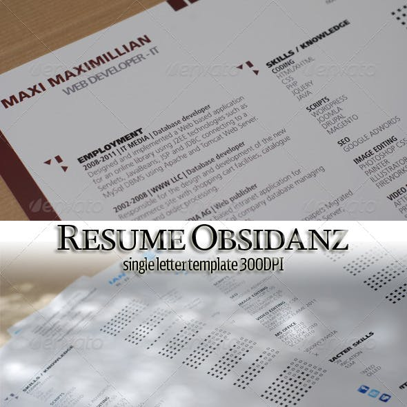 Single Page Resume Letter