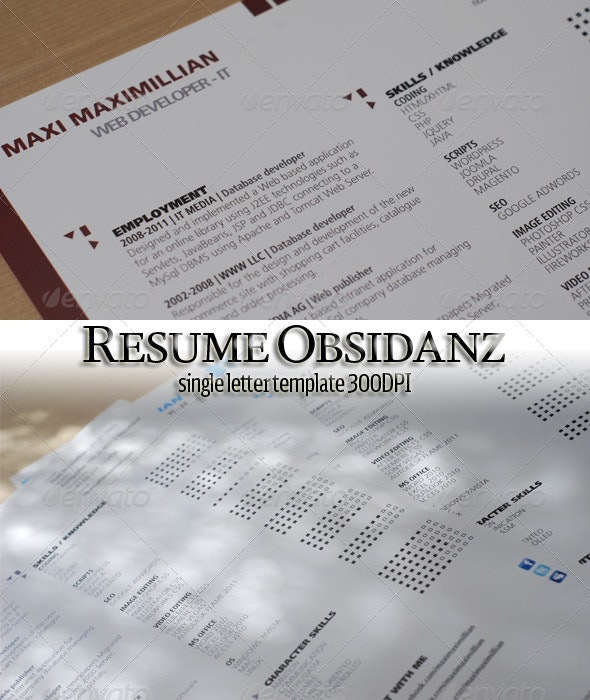 Single Page Resume Letter - Resumes Stationery