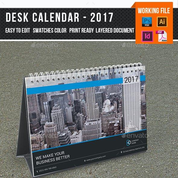 Desk Calendar for 2017 | Updated-V15