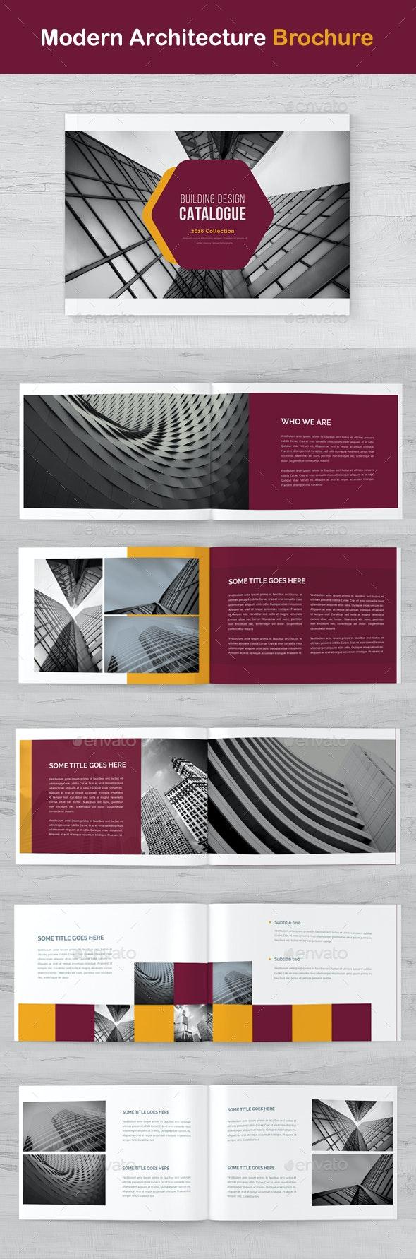 Modern Architecture  Brochure - Catalogs Brochures