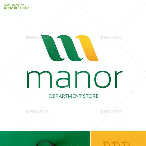 Manor Letter M Logo Template