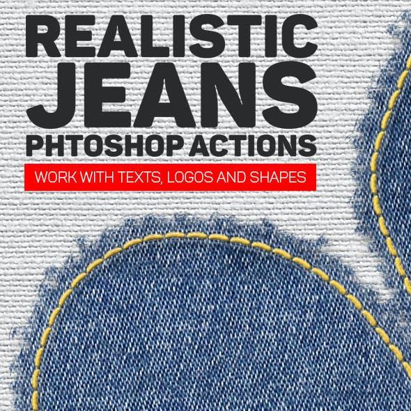 Realistic Jeans Photoshop Action