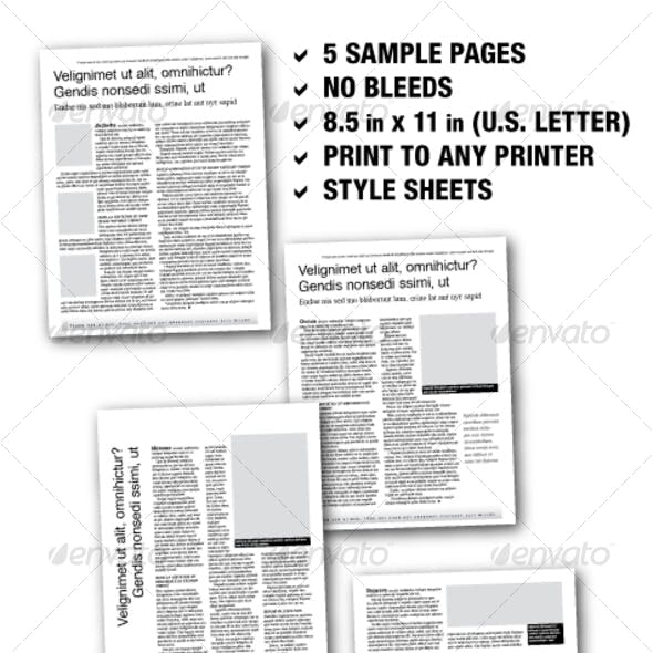 U.S. Letter Editorial Samplers 02 (5 pages)