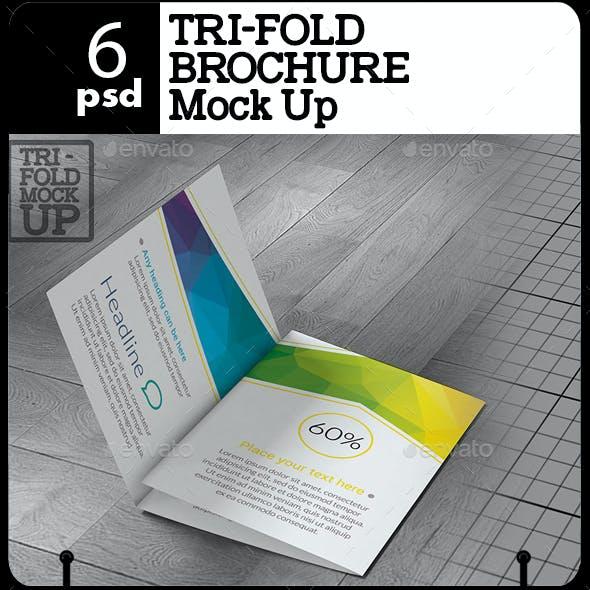 Tri Fold Brochure Mock Up