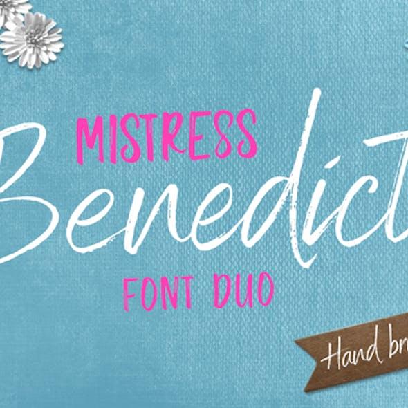 Benedict Brush Font Duo