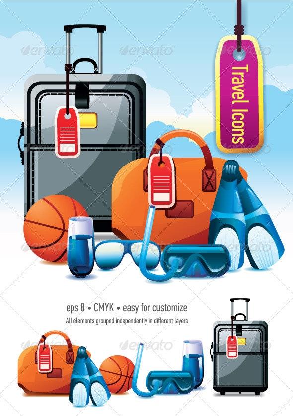 Vacation Icon Set - Travel Conceptual