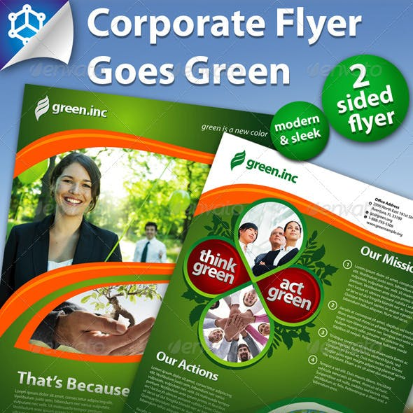 Corporate Flyer Green