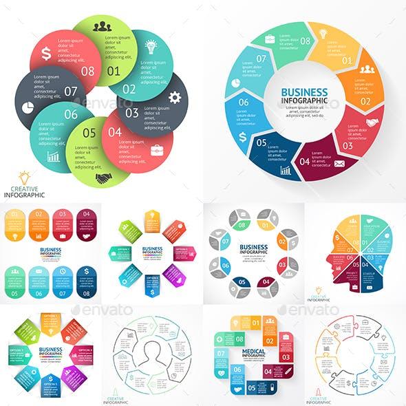 8 Steps Infographics. PSD, EPS, AI.