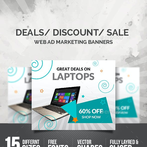 Discount Sale Banners