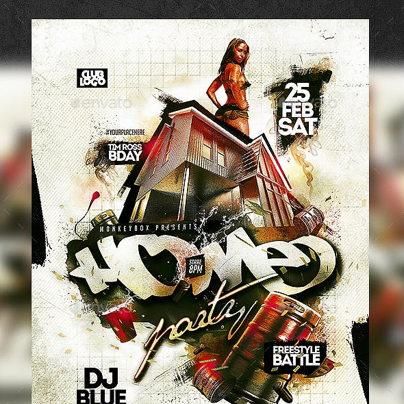 Home Party Flyer Template