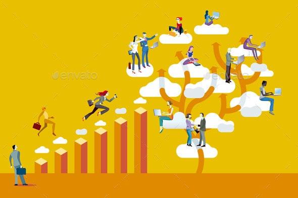 Bar Graph and Cloud Computing - Web Technology