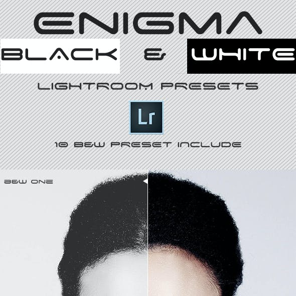 Enigma Black & White Lightroom Presets