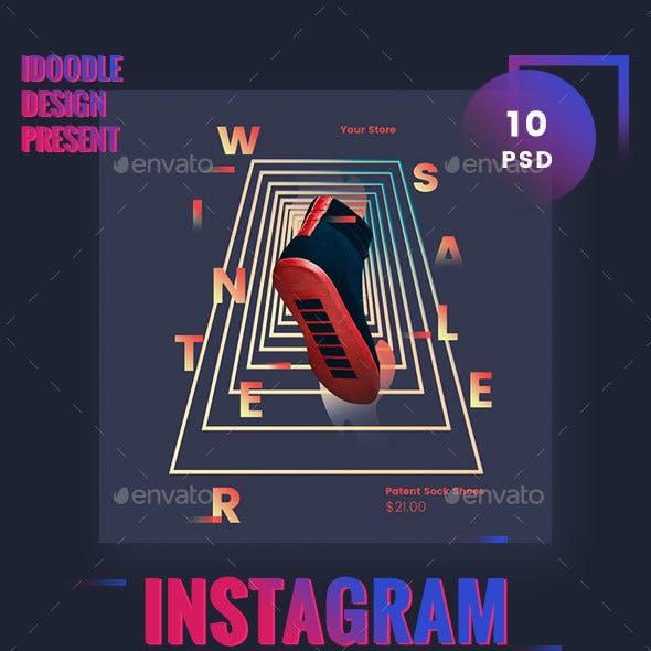 Visual Challenge Instagram Banner Ads - 10 PSD [NewSize]