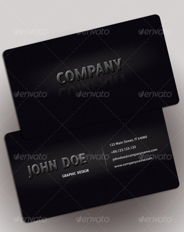 EASY BLACK business card - Corporate Business Cards