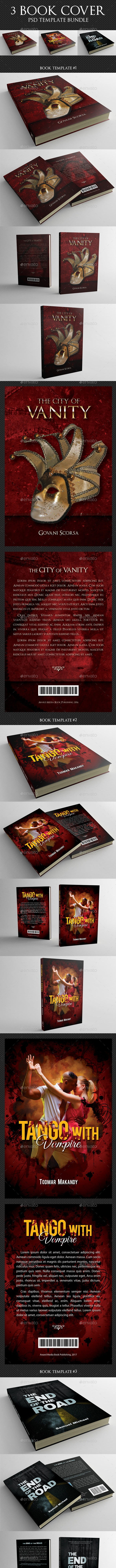 3 in 1 Book Cover Template Bundle 04