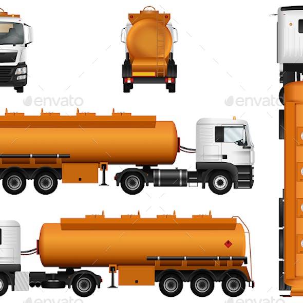 Tanker Truck Template